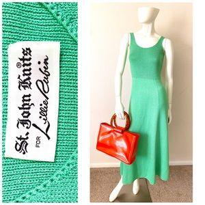1970s vintage St. John mint green dress